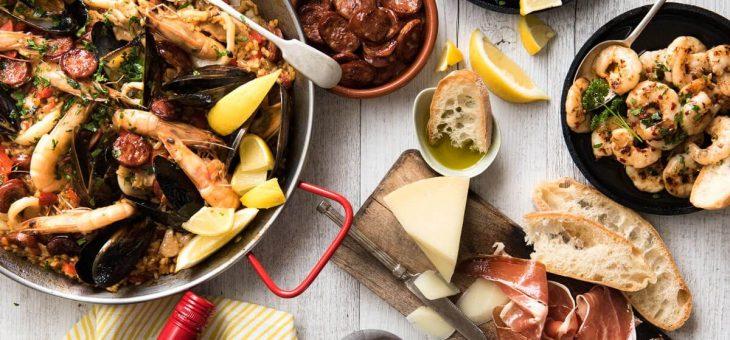 Mat i Spanien